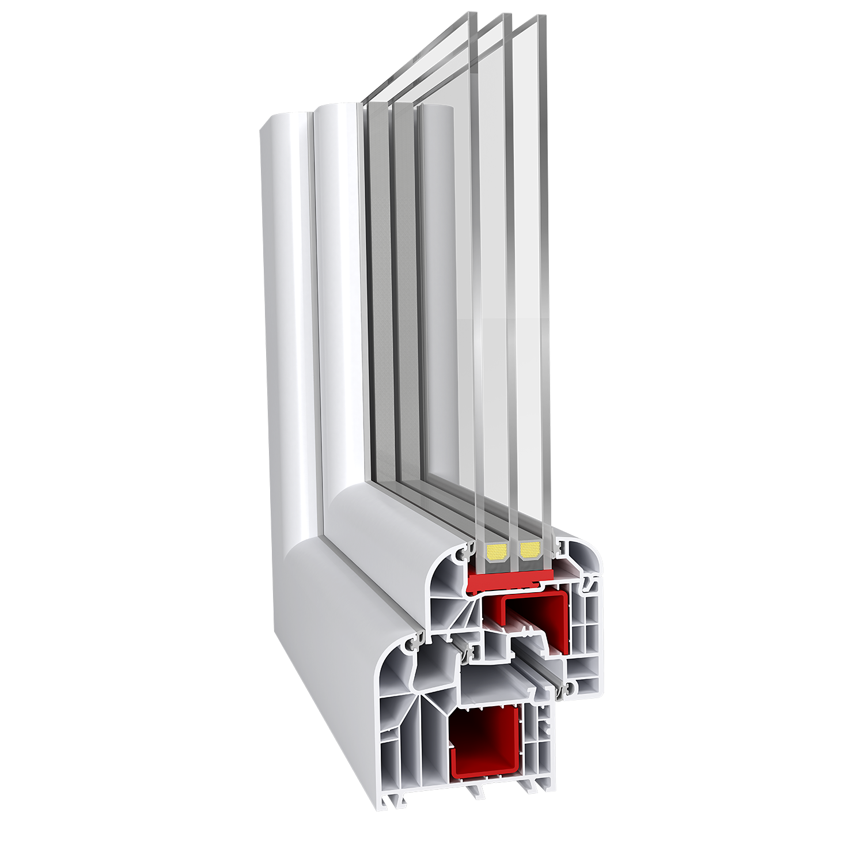 Ideal 8000 aluplast for Kunststoff schiebefenster