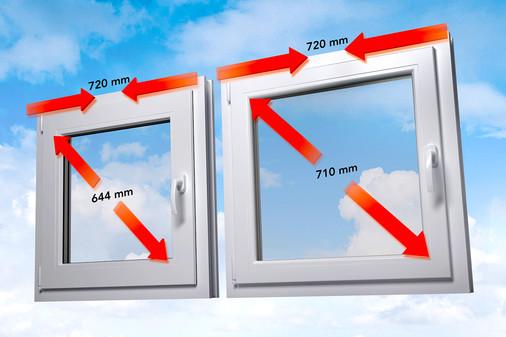 Vergleich Standard-Fenster zu energeto Fenster