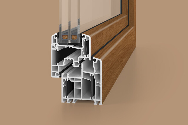 Window profiles with lamination